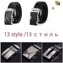 [DWTS] cinturon hombre masculino Cinturón correa de cuero genuino cinturones para los hombres de calidad superior automático hebilla negro cinturones Cummerbunds